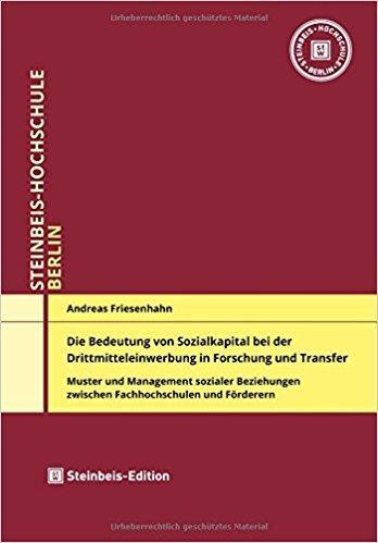 Die Bedeutung Von Sozialkapital Bei Der Drittmitteleinwerbung In Forschung Und Transfer