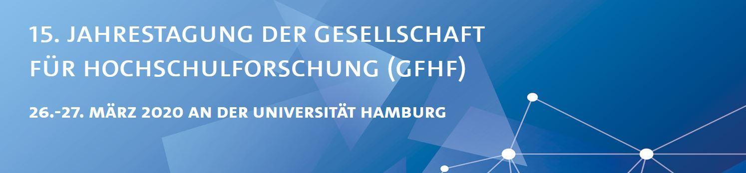 Logo zur 15. Jahrestagung der GfHf 2020 in Hamburg